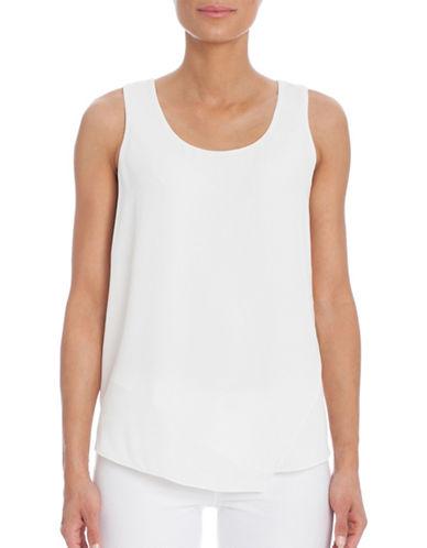 Nic+Zoe Plus Promenade Solid Top-WHITE-1X