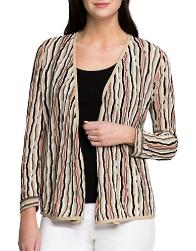 Nic+Zoe Origami Four-Way Cardigan-MULTI-X-Large