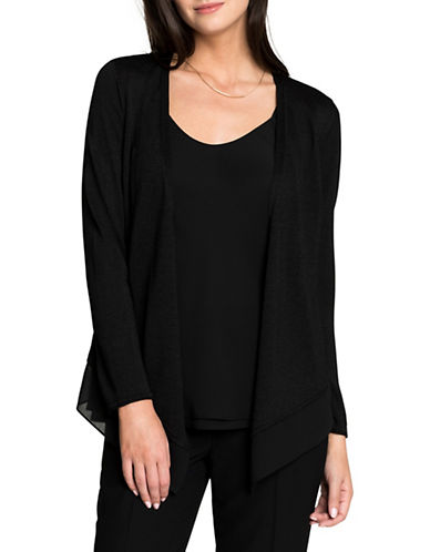 Nic+Zoe Paired Up Cardigan-BLACK-Medium