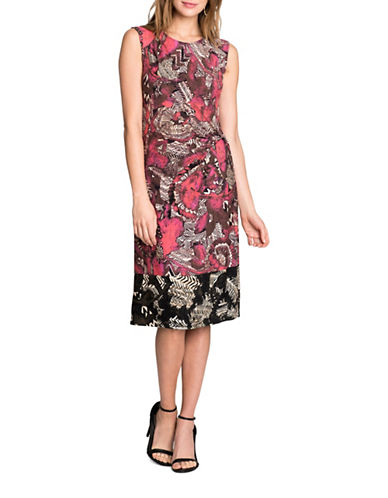 Nic+Zoe PETITE Etched Printed Dress-MULTI-Petite Large