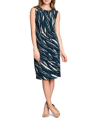 Nic+Zoe PETITE Tiger Lily Sheath Dress-MULTI-Petite Small