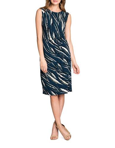 Nic+Zoe Plus Tiger Lily Knit Jersey Dress-MULTI-2X