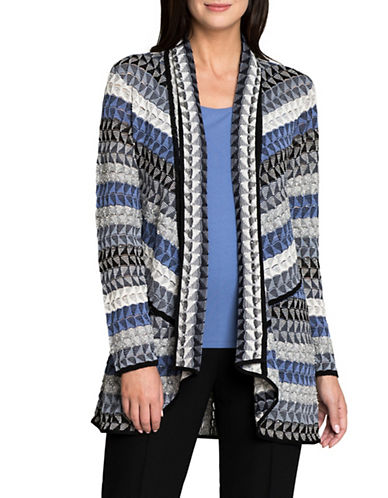Nic+Zoe Triangle Bliss Cardigan-MULTI-X-Large
