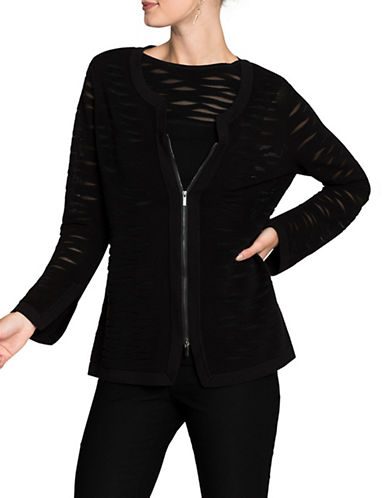 Nic+Zoe Aurora Ribbed Jacket-BLACK-X-Large 89492318_BLACK_X-Large