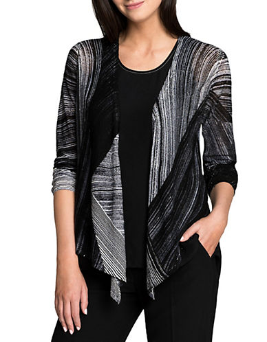 Nic+Zoe Waterfall 4-Way Cardigan-MULTI-Small