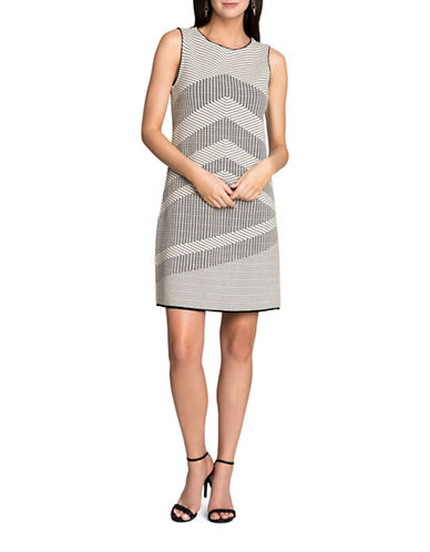 Nic+Zoe Knit Mantra Shift Dress-ASSORTED-X-Small