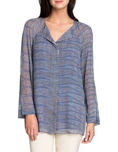 Nic+Zoe Oasis Printed Top-BLUE-Medium 89492361_BLUE_Medium