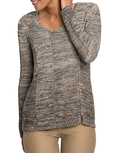 Nic+Zoe Knit Ombre Sweater-MULTI-COLOURED-Medium