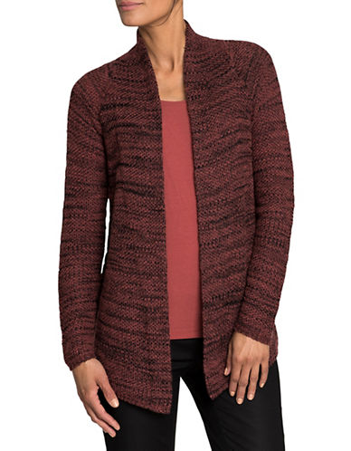 Nic+Zoe Wool-Blend Heathered Cardigan-TAMARIND-Medium