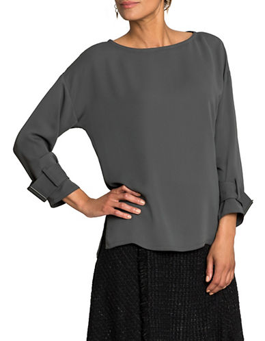 Nic+Zoe Buckle Strap Detail Blouse-TERRENE-Medium