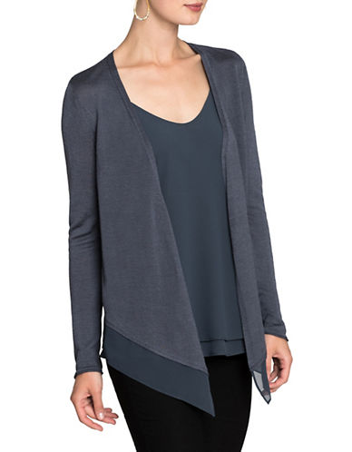 Nic+Zoe Paired Up Cardigan-SLATE-Medium