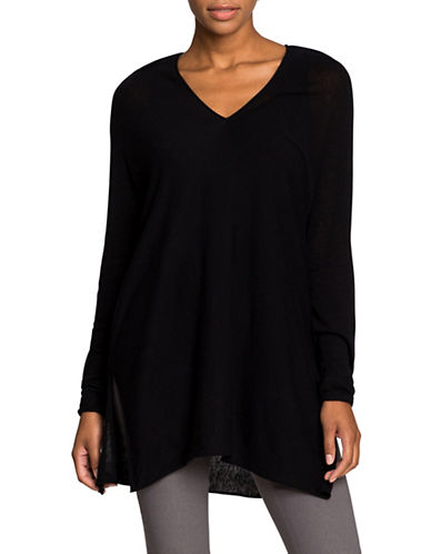 Nic+Zoe Essential Side Tie Top-BLACK-Small