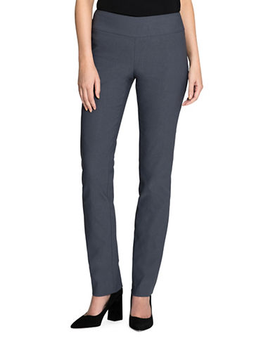 Nic+Zoe Wonder Stretch Pants-SLATE-4