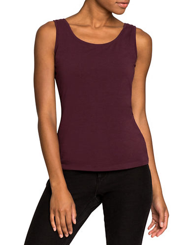 Nic+Zoe Perfect Tank Top-WINE-Medium