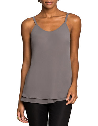 Nic+Zoe Paired Up Tank Top-WARM GREY-Small