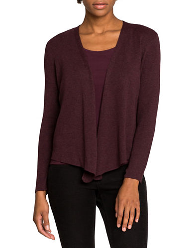 Nic+Zoe Four-Way Cardigan-PURPLE-X-Small