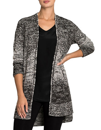 Nic+Zoe Intarsia Open Cardigan-MULTI-Small