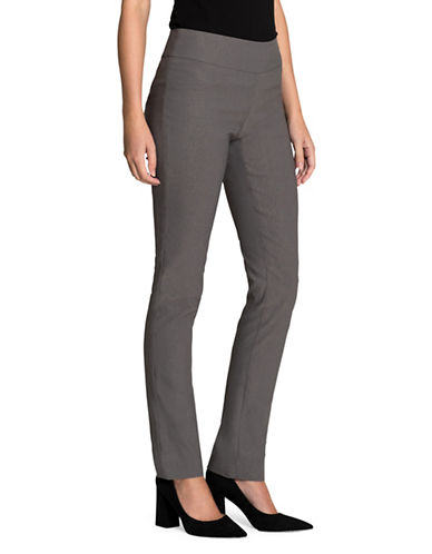 Nic+Zoe Wonder Stretch Pants-WARM GREY-12