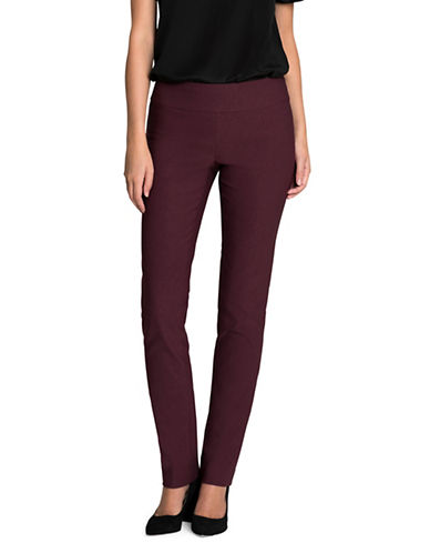 Nic+Zoe Wonder Stretch Pants-RED-2