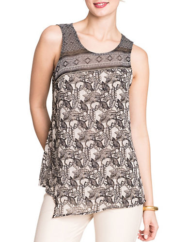 Nic+Zoe PETITE Mirrored Monkeys Design Top-MULTI-Petite Medium