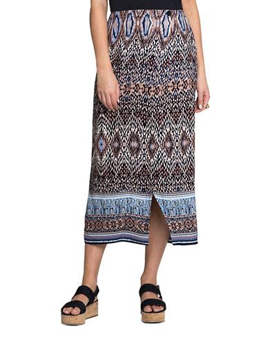 Nic+Zoe PETITE Casa Blanca Printed Skirt-MULTI-Petite X-Small