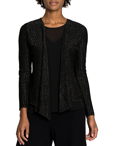 Nic+Zoe Luminary Four-Way Cardigan-BLACK MIX-X-Large
