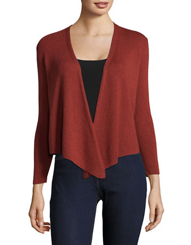 Nic+Zoe PETITE Jersey-Knit Handkerchief Cardigan-PINK-Petite Medium