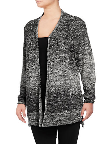 Nic+Zoe Plus Smokey Ember Open Cardigan-MULTI-1X