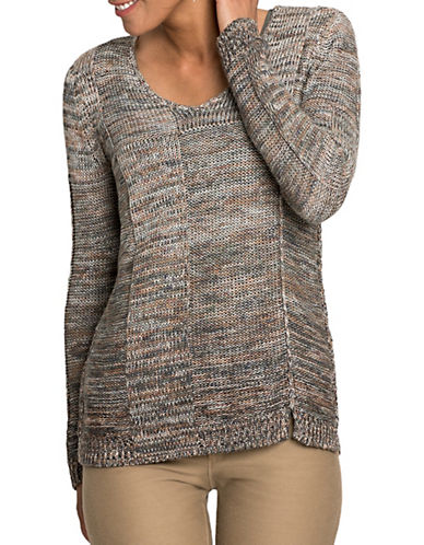 Nic+Zoe PETITE Heathered Sweater-MULTI-Petite X-Small
