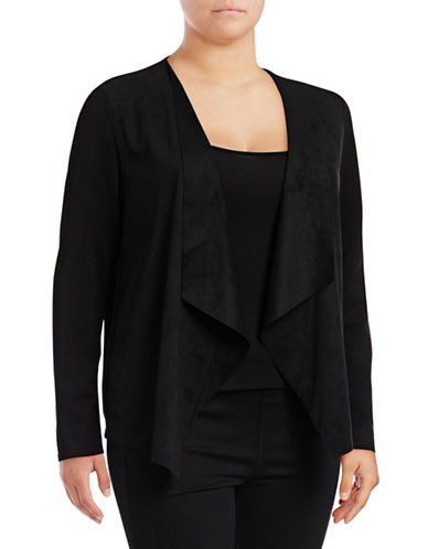 Nic+Zoe Plus Flyaway Cardigan-BLACK-1X