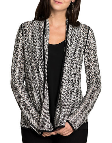 Nic+Zoe PETITE Abstract Print Cardigan-MULTI-Petite Medium