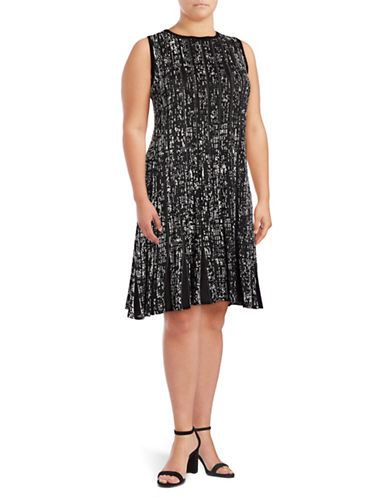 Nic+Zoe Plus Boulevard Twirl Dress-MULTI-3X