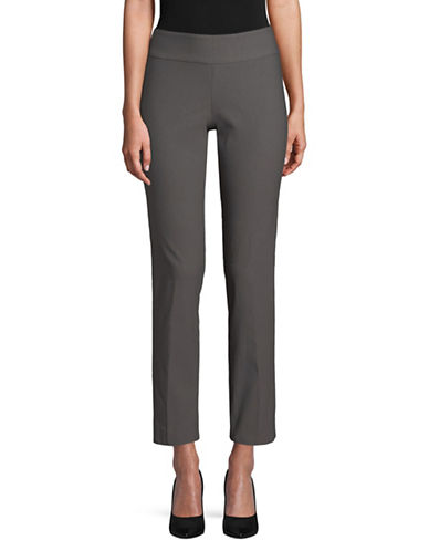 Nic+Zoe PETITE Cropped Straight Pants-GREY-8P