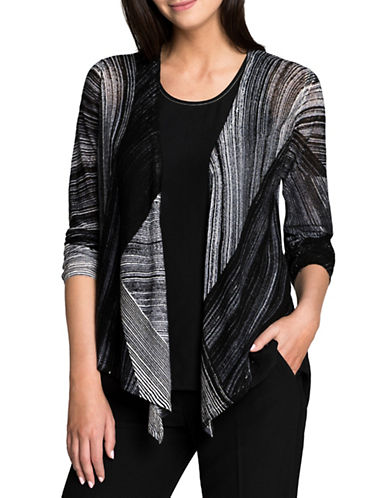 Nic+Zoe PETITE Waterfall 4-Way Cardigan-MULTI-Petite Medium