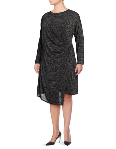 Nic+Zoe Plus Plus Every Occasion Sheath Dress-GREY MIX-1X