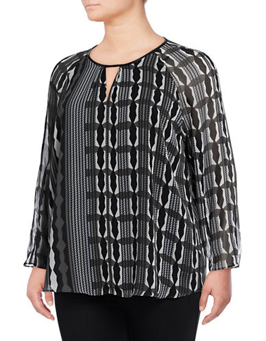 Nic+Zoe Plus City Printed Blouse-NO COLOR-2X