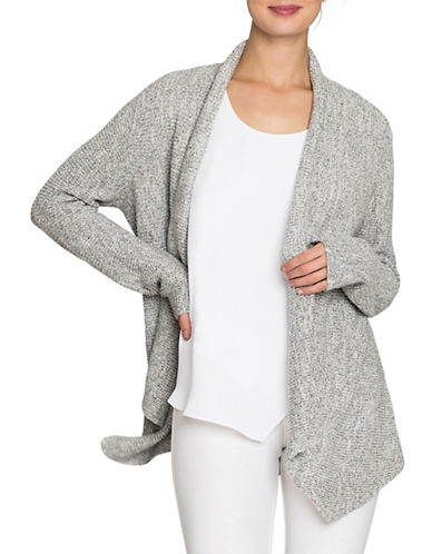 Nic+Zoe Pixel Pop Cardigan-GRANITE-Small