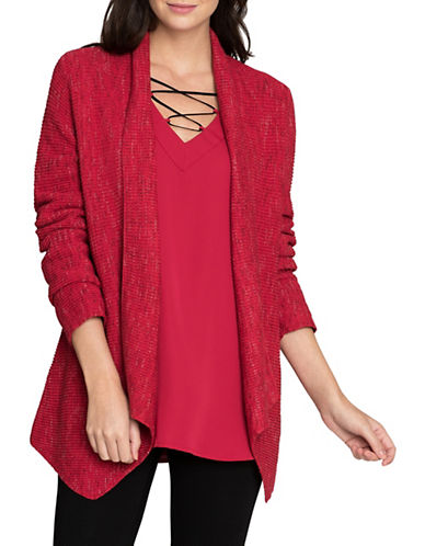 Nic+Zoe Pixel Pop Cardigan-TRUE RED-Medium