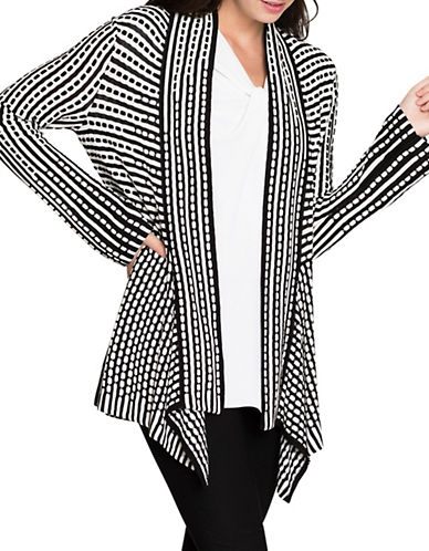 Nic+Zoe Ground Breaking Cardigan-MULTI-X-Small