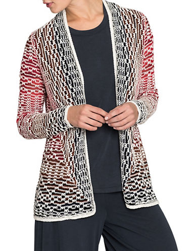 Nic+Zoe Fireside Cardigan-MULTI-Large