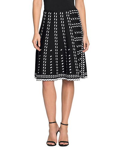 Nic+Zoe Falling Star Flare Skirt-MULTI-X-Small