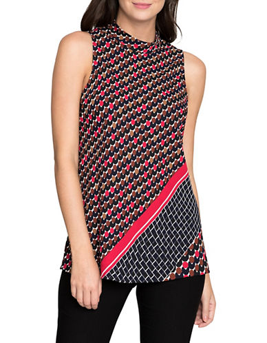 Nic+Zoe Mixed Dots Top-MULTI-Small