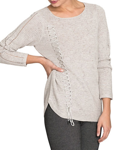 Nic+Zoe Braided Up Top-SMOKE-Medium