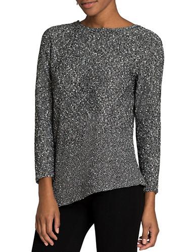 Nic+Zoe Sunlit Strokes Long Sleeve Sweater-BLACK ONYX-Large