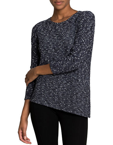 Nic+Zoe Sunlit Strokes Long Sleeve Sweater-ECLIPSE-X-Small