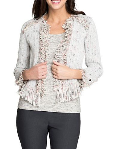 Nic+Zoe Pop-On Fringe Jacket-NATURAL-Medium 89969944_NATURAL_Medium