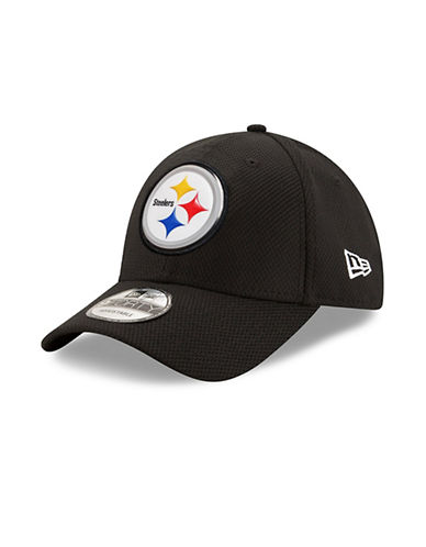 New Era Pittsburgh Steelers Bevel Team Adjustable 9FORTY Cap-BLACK-One Size