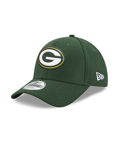 New Era Greenbay Packers Bevel Team Adjustable 9FORTY Cap-GREEN-One Size