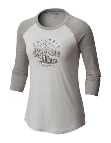 Columbia Mount Tabor Baseball Tee-GREY HEATHER-Large