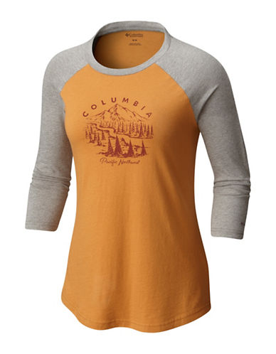 Columbia Mount Tabor Baseball Tee-YELLOW-Large